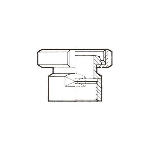 MACHO DIN-GAS. ROSCA INTERIOR. DIN 11850